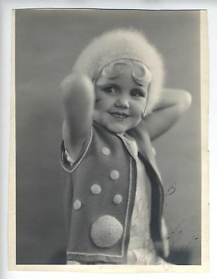 1930's Shirley Jean Rickert Our Gang Signed Photo  Little Rascals Very Young!!!