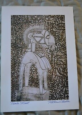 Nathaniel Bustion African American Artist Print Signed