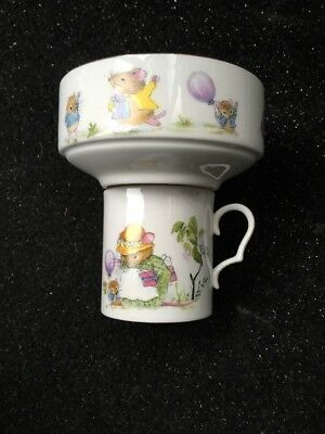 Hornsea Pottery Country Scene Nursery Bowl Cup/Mug Set New Christening Mouse