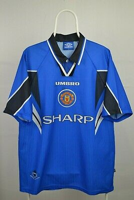 Mens Football Shirt  Manchester United Third 3rd 1996 1997 Umbro Sharp - Size XL