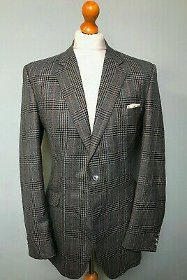 Vintage bespoke crombie checked suit size 38 40 long