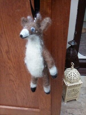 Needle Felted Hanging Deer Decoration New Not A Toy