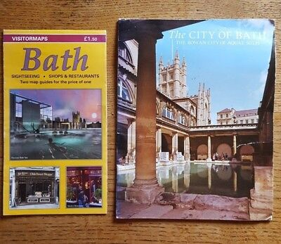 Vintage City of Bath Pitkins Pictorials visitor guide (1973) & 2011 tourist map