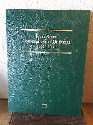 Littleton Custom Coin Folder Fifty State Commemorative Quarters 1999 To 2008