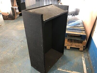 Wooden Lectern covered in black felt with angled shelf