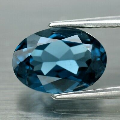 VS 2.56ct 10x7mm Oval Natural London Blue Topaz, Brazil