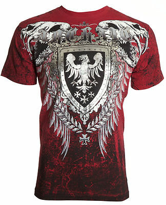 ARCHAIC by AFFLICTION Mens T-Shirt RUSE Skull Vertebrae Motorcycle Biker $40