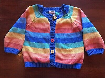 Frugi Girls Rainbow Cardigan Age 6-12 Months