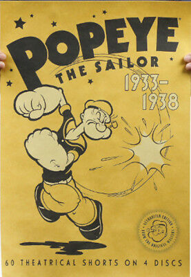 Popeye Decor Poster Paper Nostalgic Retro Antique Kraft Room Bar Wall