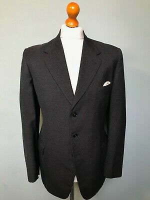 Vintage 1930's 1940's grey single breasted suit size 38 40