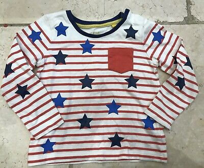 Boden Boys Long Sleeved Stripe Top Tshirt 100% Cotton Ages 2-3
