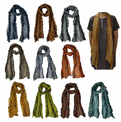 Pleated Scarf Snake Skin design Scarves for Women Girls Fashionsolid