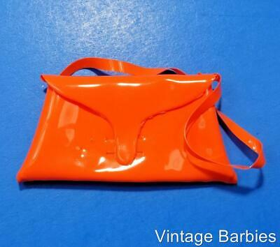Barbie Doll Sized Orange Purse Near Mint - Vintage 1960's