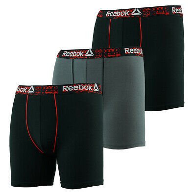Reebok Men's Stretch Boxer Briefs 3-Pack
