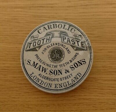 S. Maw,son & Sons Carbolic toothpaste Aldersgate Street London repaired
