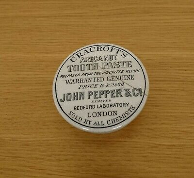 Cracrofts areca nut toothpaste John pepper & co repaired