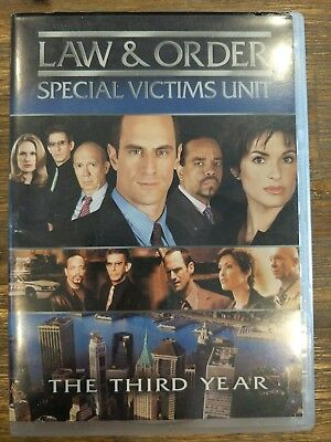 Law And Order Special Victims Unit SVU complete Season 3 DVD 2007