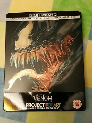 Venom 4K Ultra Hd Blu Ray Steelbook - Marvel - Tom Hardy