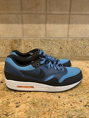 outlet store b3efd e3938 Nike Air Max 1 Essential Running Shoes Blue Black (537383-402) Men s Size