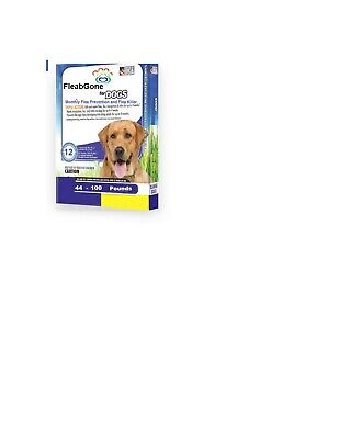 Dog Flea Prevention and Killer 46-90 LBS 12 Dose Raw Truth Pet Health