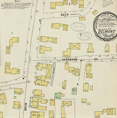Belmont, New Hampshire~Sanborn Map© sheets~4 maps~1898 to 1912 in color