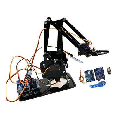 DIY Wifi Control 4 DOF Mechanical Acrylic Robot Arm Clamp Claw Manipulator
