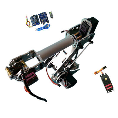 6 Axis Robotic Mechanical Arm Gripper Kit with MG-996R Servo For Raspberry