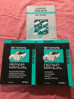Toyota Celica Repair Manual Vol 1 2 Electrical Wiring Diagram 2001 Dealership