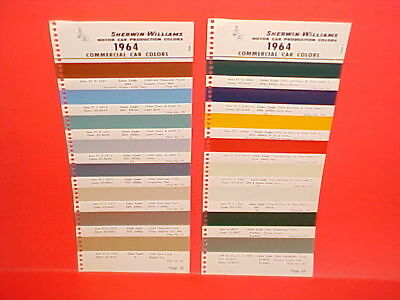 1964 Chevrolet Fleetside Gmc Ford Studebaker Pickup Truck Paint Chips Sw