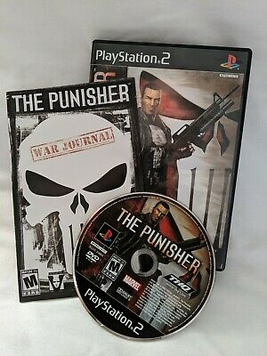 The Punisher (Sony PlayStation 2, 2005) Complete Tested and Works Great CIB Rare