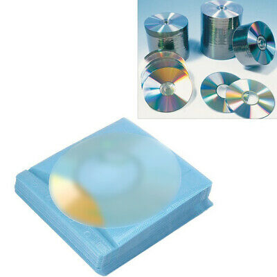 CD/DVD Cover Double Side Sleeve Scratch Resistant Disc Storage Case 100 pcs
