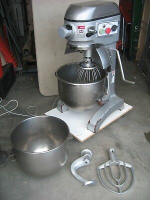 3 Speed..commercial Mixer 25Qt. Spare Bowl, Flat Beater, Hook & Whisk