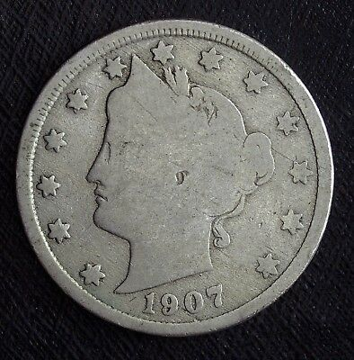 1907 Liberty V Nickel ☆☆ Nice Circulated Nickel ☆☆ Great Book Filler