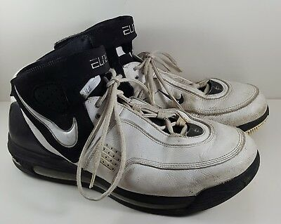 e7624244a92 Men s Nike Air Max Elite TB 314185-112 White Black Basketball Shoes Size  11.5