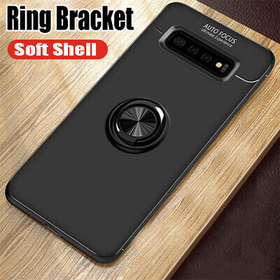 For Samsung Galaxy S10+ S10E Hybrid Magnetic Ring Holder TPU + Metal Case Cover