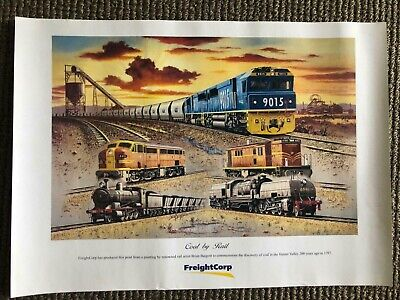 Collectible Rail Poster - Coal by Rail