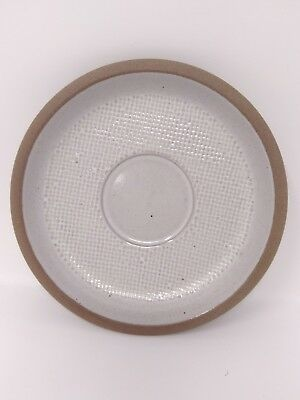 """Midwinter stoneware 1 pc replacement 6"""" saucer plate cream beige brown hopsack"""