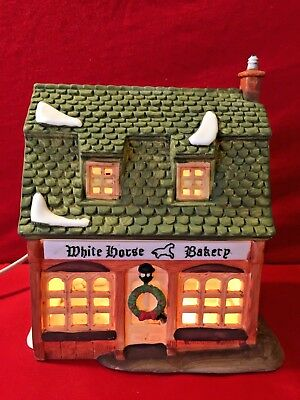 White Horse Bakery Dept 56 Dickens Village 59269 Christmas heritage shop city A