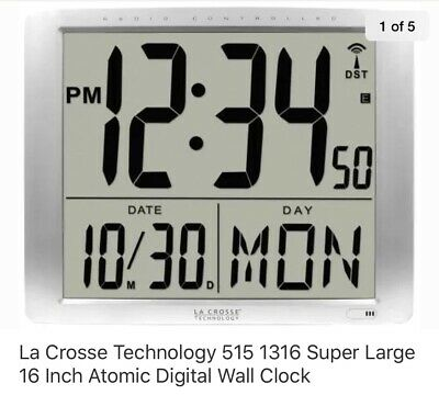 Bbb87269 La Crosse Technology Jumbo 7 Time Display Atomic Digital