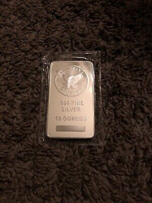 10 oz Sunshine Silver Bar New MintMark SI Sealed Original Packaging  (free Ship)
