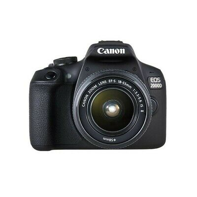 """CANON FOTO.DIG.EOS 2000D +18-55 IS KIT CMOS da 22,3x14,9 mm, LCD 3"""" Touch, WIFI,"""