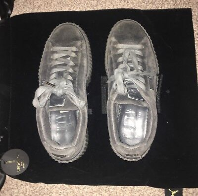 Rihanna puma fenty grey creepers trainers sneakers size 5 uk