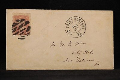 Virginia: Old Point Comfort 1869 (circa) #94 Cover, Unusual Large Fancy Cancel