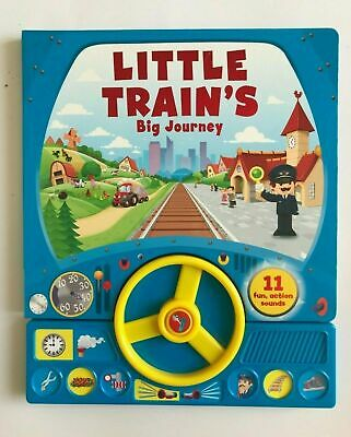Little Trains Big Journey Sound Book With 11 Fun Action Sound Ages 0 month+ New