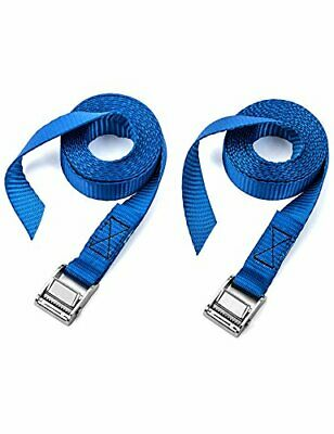 Two Pack of Premium Lashing Straps by Vault - 8 Ft Long – Rated 250 Lbs - T...