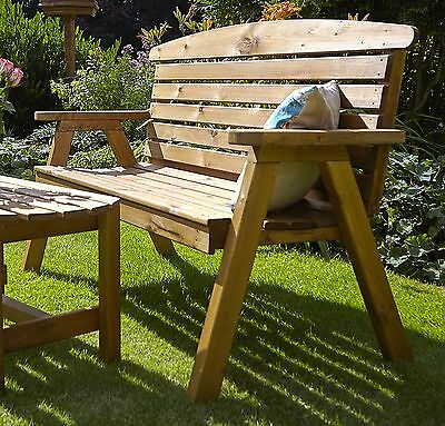 606f5947129 Large Hetton wooden Garden Bench by Tom Chambers - Wood Furniture Patio Seat