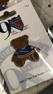 NEW YORK RANGERS Pin Holiday Teddy Bear NHL 1994 STANLEY CUP Rare collection