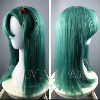 Dragon Ball Burma Boulevard Bulma Cyan Long Straight Hair Anime Wigs high