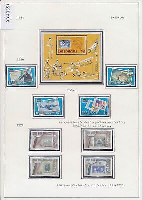 XB40551 Barbados 1984-1995 philatelic exhibition stamp on stamp MNH