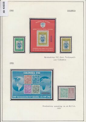 XB40608 Colombia 1968-1981 stamp centenary stamp on stamp MNH
